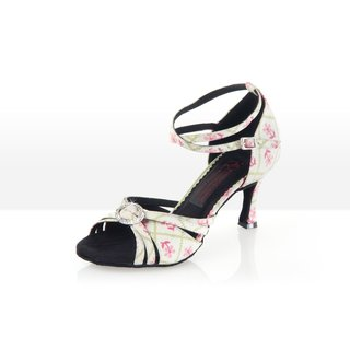 La Belle - Latein Tanzschuh Damen 41 (UK: 7,5) 7 cm Chromledersohle