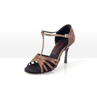 Hot Chocolate - Latein Tanzschuh Damen 39,5 (UK: 6) 5,5 cm